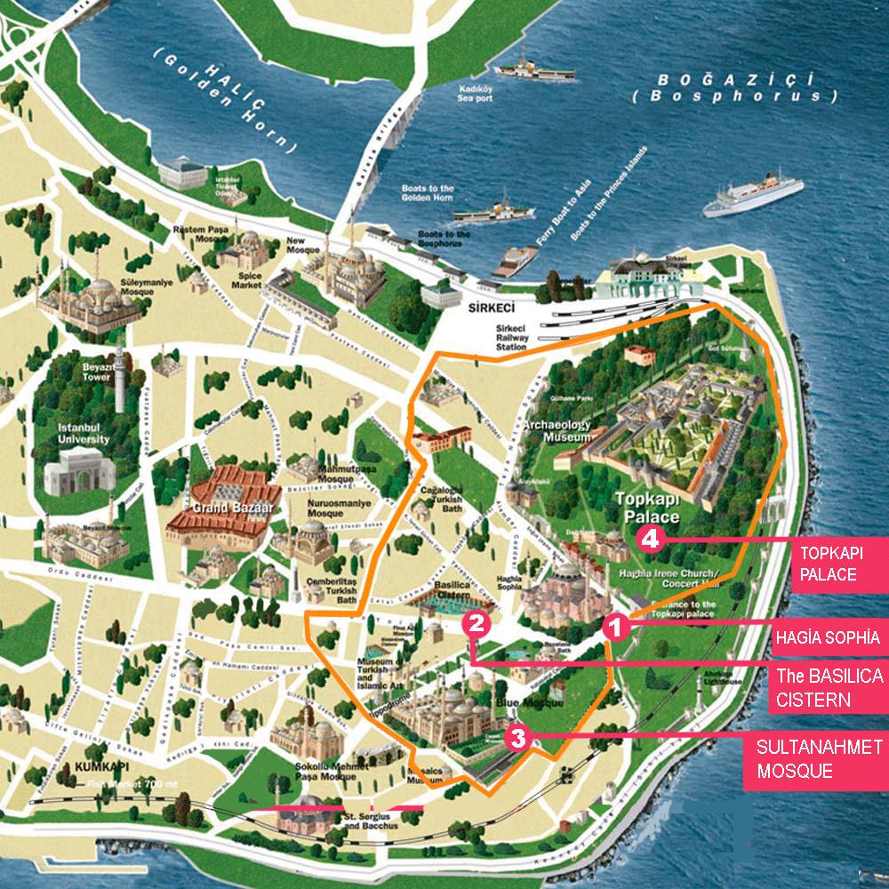 Istanbul carte touristique arts et voyages for Carte touristique